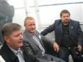 Allan,  Harnvig and Vernyayev on the boat cruise